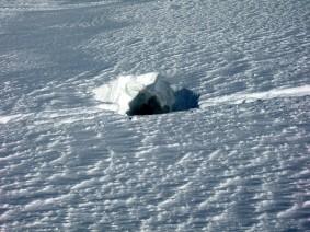 Gletscherspalte am Monte Cevedale