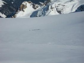 Geht man so über den Gletscher?