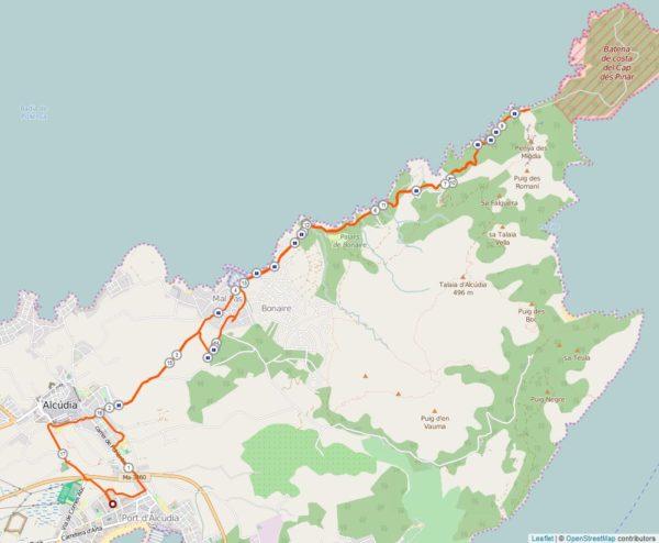 Laufstrecke Alcudia