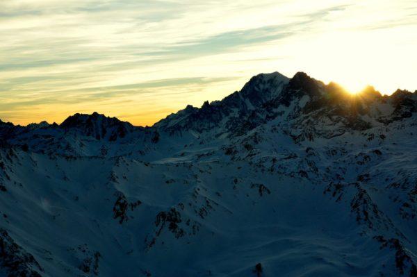 Traumhafter Sonnenuntergang übern Mont Blanc