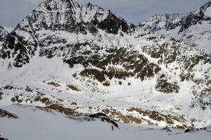 Gletscherabfahrt, Pointe de Otemma vor uns