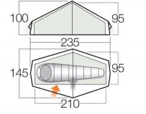 Test: Zelt Vango F10 Helium UL 1