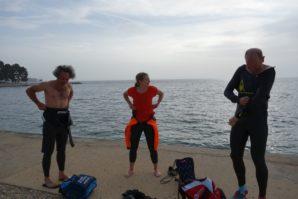 Freiwasserschwimmen in Porec