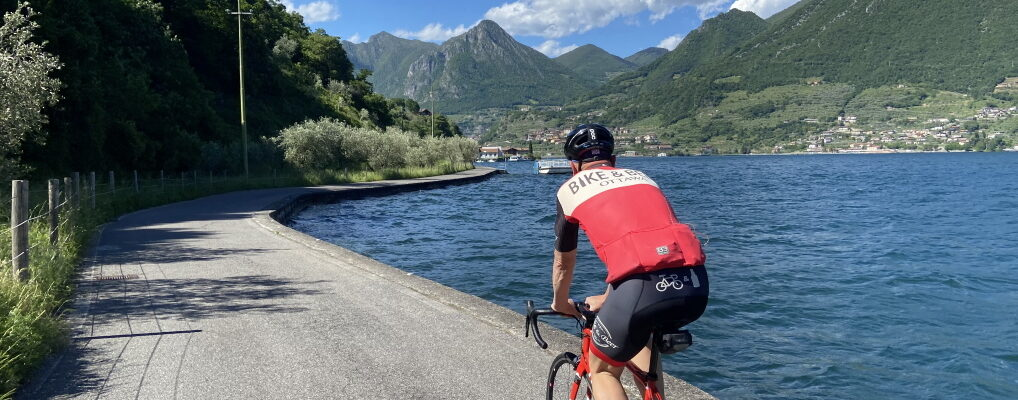 Vier (Renn-) Radtouren am Lago d'Iseo